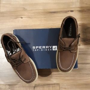 NWT Sperry Intrepid Cigar Boys Shoes. Size 3M